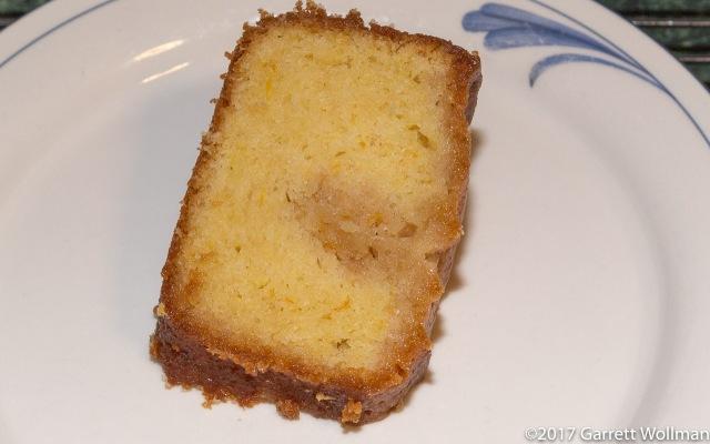 Single slice of cake on plate