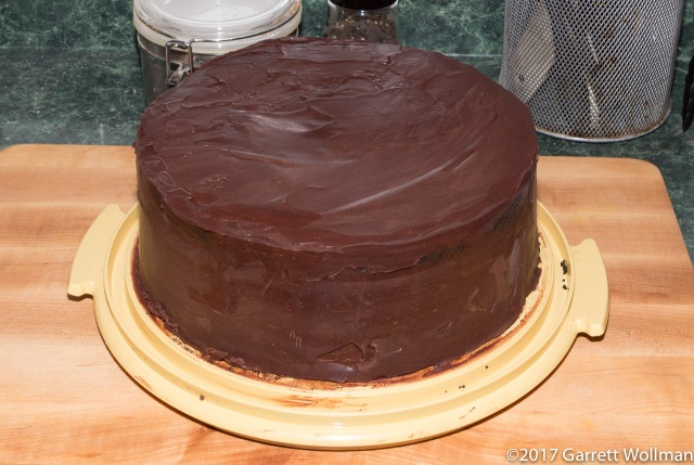 Black Chocolate Stout Cake with Whipped Chocolate Ganache and Sarah Bernhardt Chocolate Glaze