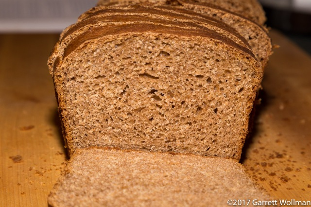 Sliced loaf showing crumb texture