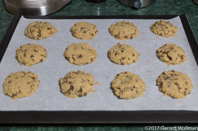 Baked cookies cooling on rack