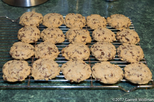 Full batch of cookies continuing to cool
