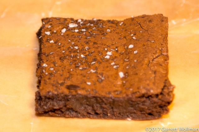 Close-up of single brownie