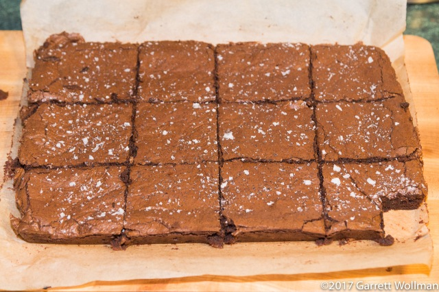 Brownies after portioning