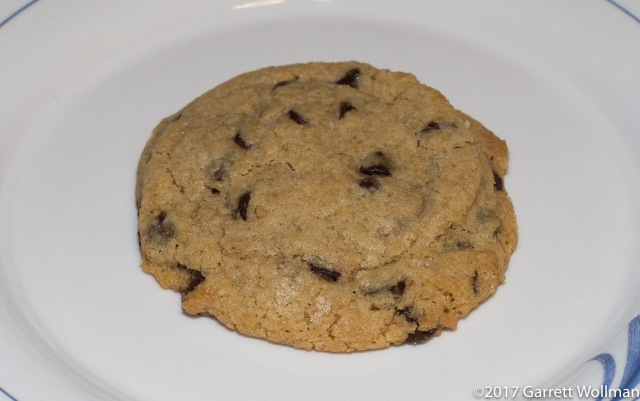 Single cookie on a plate