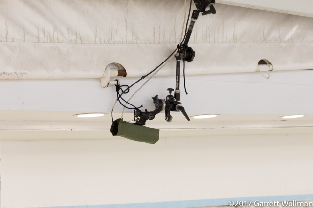 Camera mounted over track