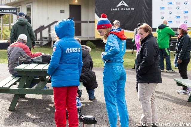 Elena Nikitina and other members of Team Russia