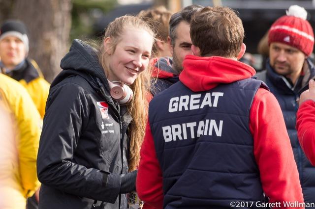 Team GB athletes chatting