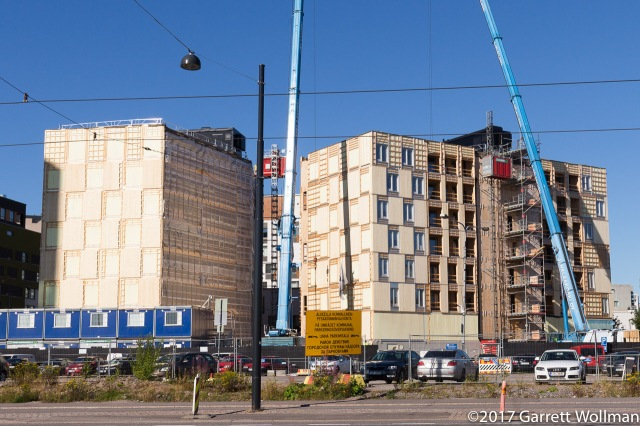 """Wood City"" development under construction across the street"
