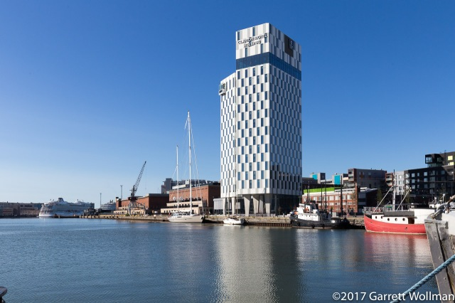 Looking back at the Clarion from Hietalahti