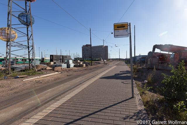 Loop for the 8 and now 9 trams in Jätkäsaari