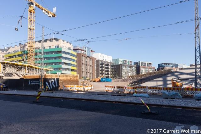 Diverse new residential construction along Välimerenkatu