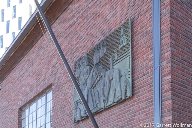 Interesting bas-relief on the rescue training center