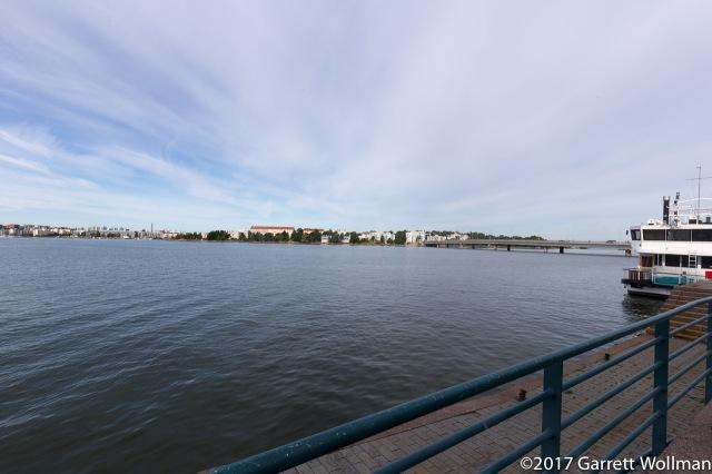 Looking across the bay at Lauttasaari