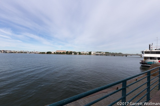 Looking across the bay at Lauttasaari