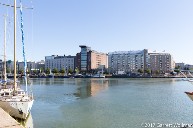 Looking aross the bay at Hietalahti